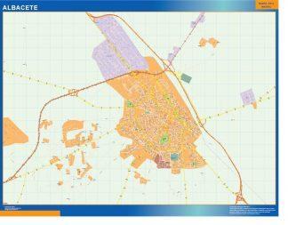 Mapa Albacete callejero enmarcado plastificado