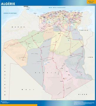 Mapa Argelia enmarcado plastificado