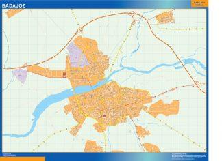 Mapa Badajoz callejero enmarcado plastificado