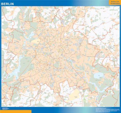 Mapa Berlin enmarcado plastificado