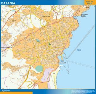 Mapa Catania enmarcado plastificado