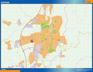 Mapa Girona callejero enmarcado plastificado