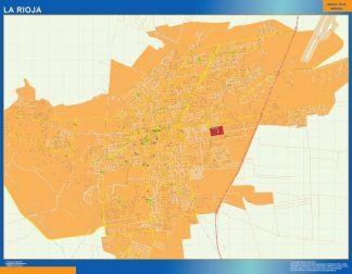Mapa La Rioja en Argentina enmarcado plastificado