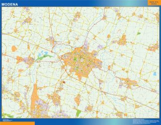 Mapa Modena enmarcado plastificado