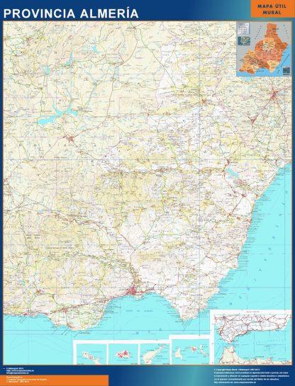 Mapa Provincia Almeria enmarcado plastificado