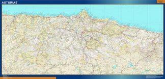 Mapa Provincia Asturias enmarcado plastificado