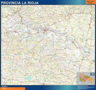 Mapa Provincia La Rioja enmarcado plastificado