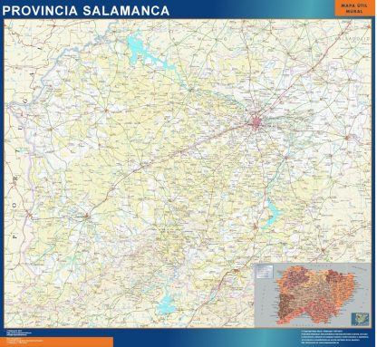 Mapa Provincia Salamanca enmarcado plastificado