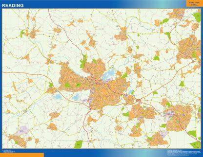 Mapa Reading enmarcado plastificado