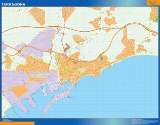 Mapa Tarragona callejero enmarcado plastificado