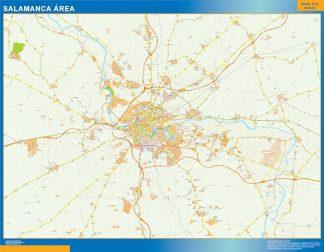 Mapa carreteras Salamanca Area enmarcado plastificado