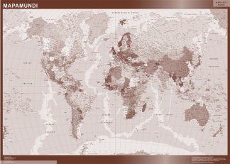 Mapamundi Color enmarcado plastificado