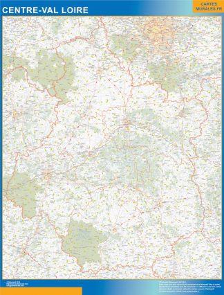 Region Centre Val Loire enmarcado plastificado