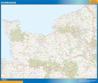 Region Normandie enmarcado plastificado